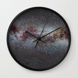 The Milky Way from Scorpio Antares and Sagitarius to North America Nebula in Cygnus Wall Clock
