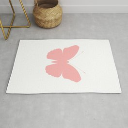 Pink Butterfly Design Rug