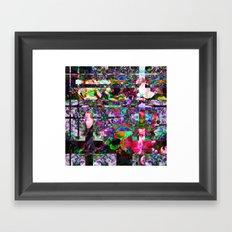 Vertical Floral Framed Art Print