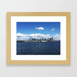 Seattle Skyline - #1 Framed Art Print