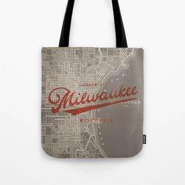 Milwaukee Map Tote Bag