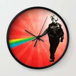 Pepper Spray Cop Rainbow - Pop Art Wall Clock