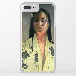 Yellow kimono Clear iPhone Case