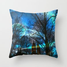 Saturn In Central Park Throw Pillow