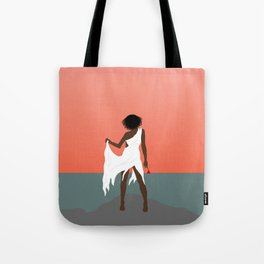 Aboriginal Girl and Rose Tote Bag