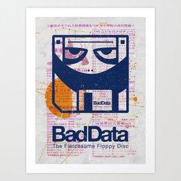 Bad Data: Pandamonium (Navy Blue) Art Print