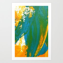 Wings Collection orange/cyan Art Print