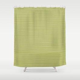 Horizontal White Stripes on Light Green Shower Curtain
