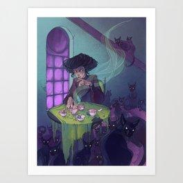 Cat Cafe Art Print