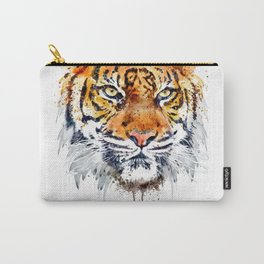 Tiger Face Close-up Carry-All Pouch