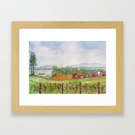 Snow Farm Winery Framed Art Print