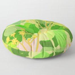 Leopard Plant Floor Pillow
