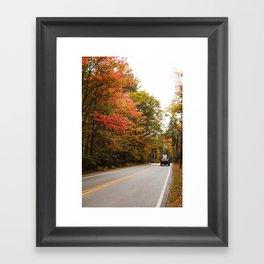 Truck Driving Through Foliage Framed Art Print