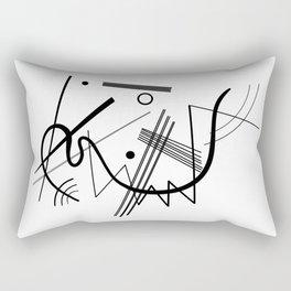 Kandinsky - Black and White Abstract Art Rectangular Pillow