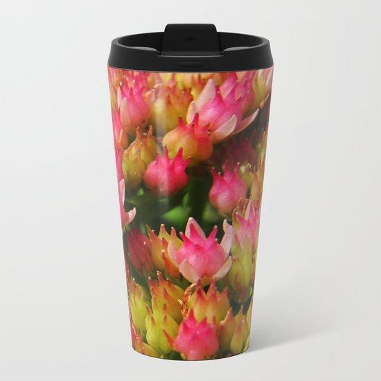 buds of pink flowers Metal Travel Mug