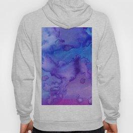 Blue purple pink hand painted watercolor pattern Hoody
