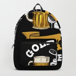 Golf And Beer T-Shirt Gift Golfer Backpack