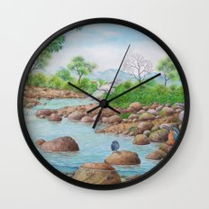 A Day of Forest(7). (the river ecosystem) Wall Clock