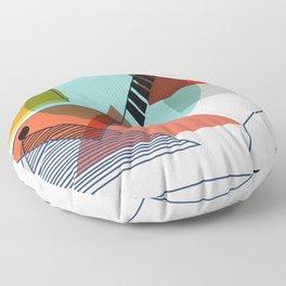 Bauhaus Kandinsky Modern Art Floor Pillow