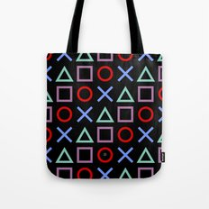 Gamer Pattern (color on black) Tote Bag