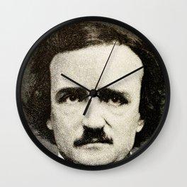Edgar Allan Poe Engraving Wall Clock