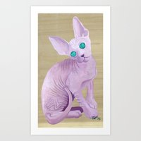 sphynx Art Prints featuring sphynx by terastar