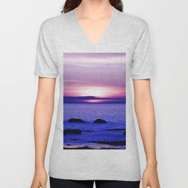 Dusk on the Saint-Lawrence Unisex V-Neck