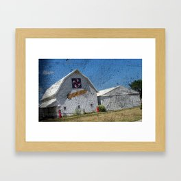 Corn, Barn, and Quilt Framed Art Print