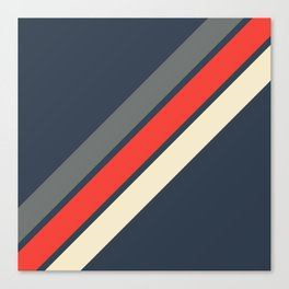 3 Retro Stripes #4 Canvas Print