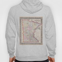 Vintage Map of Minnesota (1864) Hoody