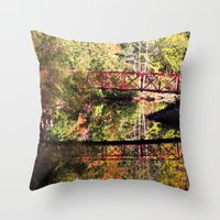 mirror Throw Pillows featuring Mirror by Forgotten Beauty