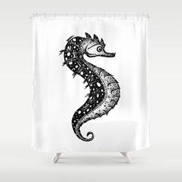 Hippocampus, little fella Shower Curtain