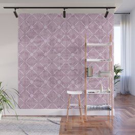 Faux Velvet Dusty Mauve Light Diamond Pattern Wall Mural
