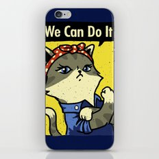 Purrsist! We Can Do It! iPhone Skin
