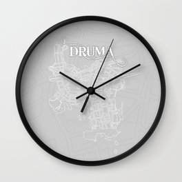 DRUMA Grey Wall Clock