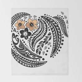 Polynesian Tribal Throw Blanket