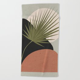 Tropical Leaf- Abstract Art 5 Beach Towel