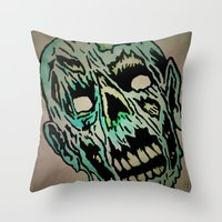 kieren walker Throw Pillows featuring WALKER by Scholar Jack