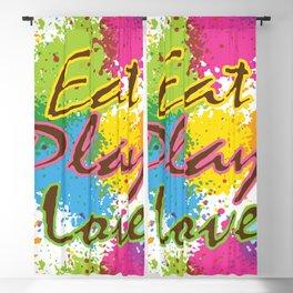 Eat Play Love Blackout Curtain