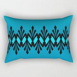 Art Deco Turquoise Pattern Rectangular Pillow