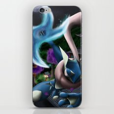 Frog ninja! Water Shuriken! iPhone & iPod Skin