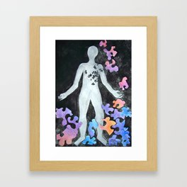 The Missing Pieces Framed Art Print