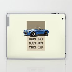 The Classic Game Cheat Code: How do you turn this on Funny Blue Cobra Car Laptop & iPad Skin