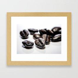 French roast coffee beans Framed Art Print