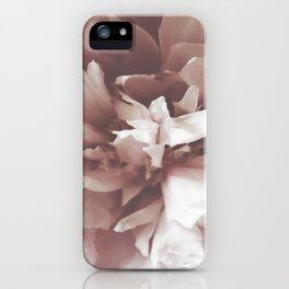Peony Portrait iPhone Case
