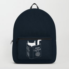Mind Control For Cats (dark blue) Backpack