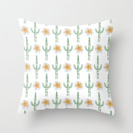 Saguaro Floral Pattern Throw Pillow