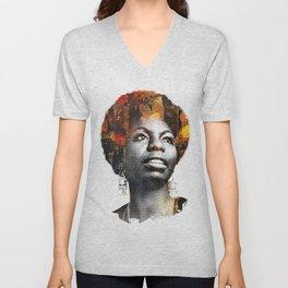 Nina Simone Unisex V-Neck