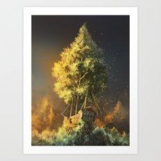 Second Life Art Print