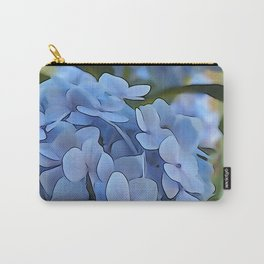 Periwinkle Hydrangea Carry-All Pouch